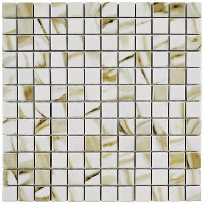 Gloria 0.9 x 0.9 Porcelain Mosaic Field Tile in Cream