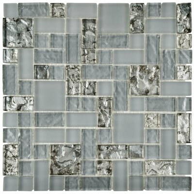 Sierra Random Sized Glass Mosaic Tile in Blue