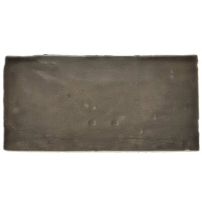 Tivoli 3 x 6 Ceramic Subway Tile in Graphite Gray