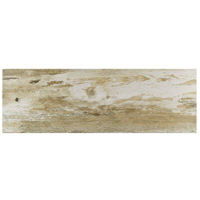 Alcazar 7.88 x 23.63 Ceramic Wood Look Tile in Matte Brown/Beige