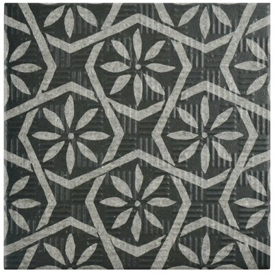 Region 6 x 6 Porcelain Field Tile in Black/Gray