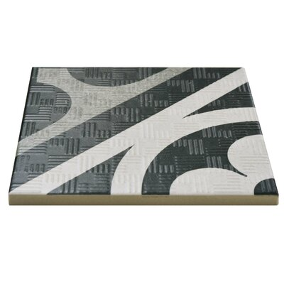 Region 6 x 6 Porcelain Field Tile in Black/White