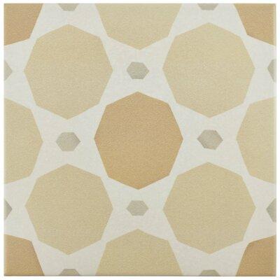 Grotta 7.88 x 7.88 Porcelain Field Tile in Orange/Sand