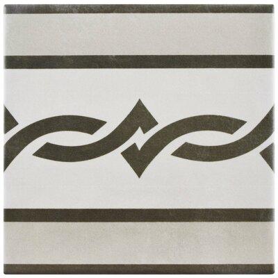 Haute 5.88 x 5.88 Ceramic Field Tile in Gray/Black