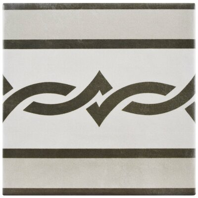 Haute 5.88 x 5.88 Ceramic Field Tile in Semi-Gloss Gray