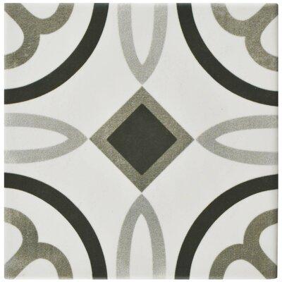 Haute 5.88 x 5.88 Ceramic Field Tile in Gray/White