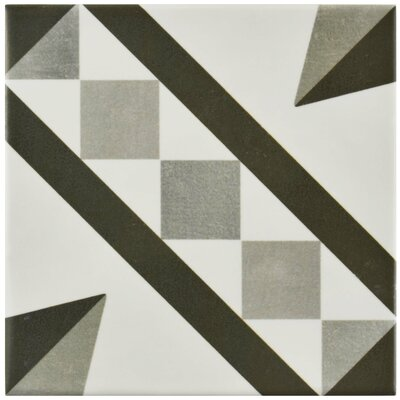 Haute 5.88 x 5.88 Ceramic Field Tile in Gray/White