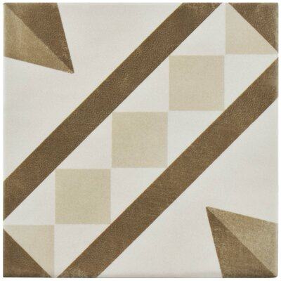 Haute 5.88 x 5.88 Ceramic Field Tile in Brown/Beige
