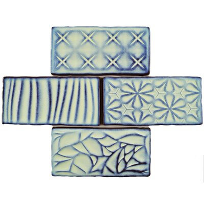 Antiqua Sensations 3 x 6 Ceramic Subway Tile in Glossy Teal/Navy
