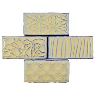 Antiqua Sensations 3 x 6 Ceramic Subway Tile in Yellow/Light Blue