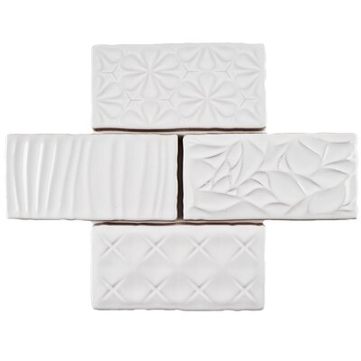 Antiqua Sensations 3 x 6 Ceramic Subway Tile in White