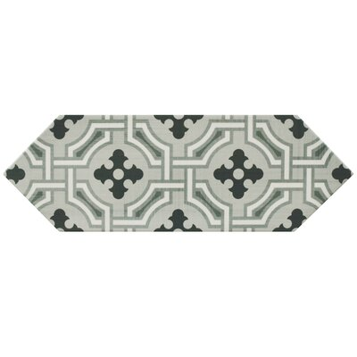 Volant 4 x 11.75 Porcelain Field Tile in Gray/Black