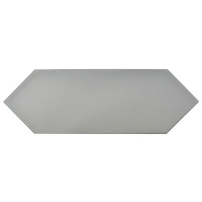 Volant 4 x 11.75 Porcelain Field Tile in Gray