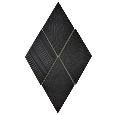 Ronbo 5.5 x 9.5 Porcelain Field Tile in Black