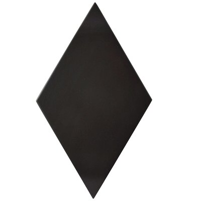 Ronbo 5.5 x 9.5 Porcelain Field Tile in Semi-Gloss Black