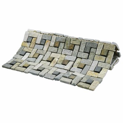 Peak 12 x 12 Natural Stone Mosaic Tile in Gray/Beige