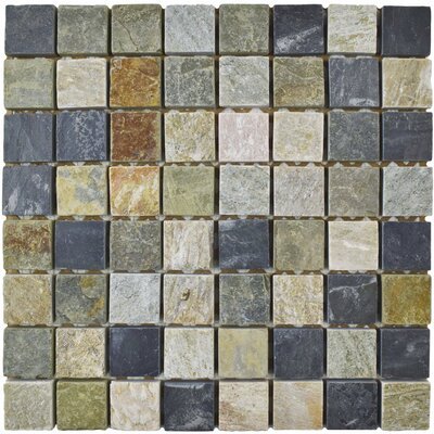 Peak 1.375 x 1.375 Natural Stone Mosaic Tile in Gray