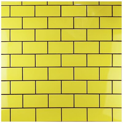 Prospect 3 X 6 Ceramic Subway Tile in Canary Yellow