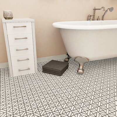 Castle Random Sized Porcelain Mosaic Tile in White