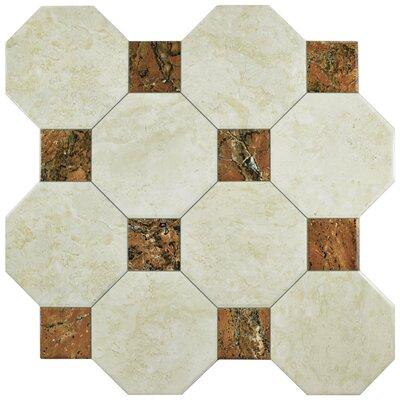 Opalo 17.75 x 17.75 Ceramic Field Tile in Ivory/Brown