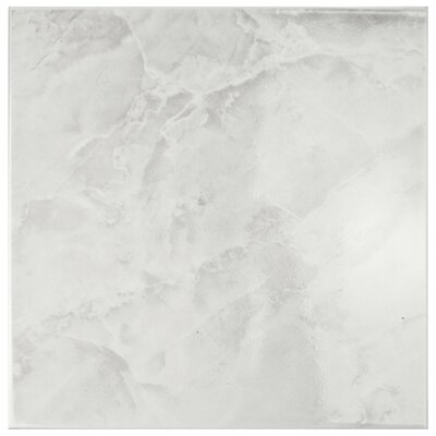 Alpha 11.75 x 11.75 Ceramic Field Tile in White/Gray