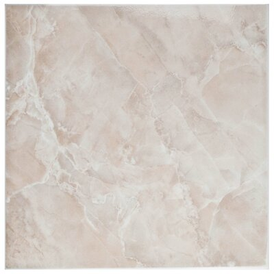 Alpha 11.75 x 11.75 Ceramic Field Tile in Pink/White