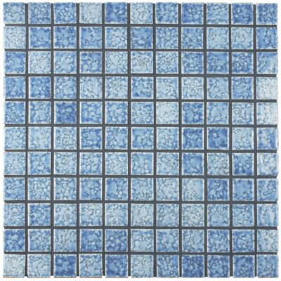 Geneva 1 x 1 Porcelain Mosaic Tile in Blue