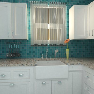 Enclave 1.88 x 1.88 Porcelain Mosaic Tile in Blue/Teal