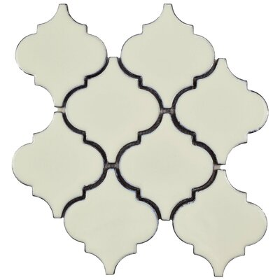 Essentia 4.58 x 5.2 Porcelain Mosaic Tile in Ivory