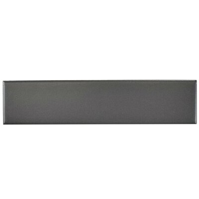 Retro 1.75 x 7.75 Porcelain Subway Tile in Matte Gray