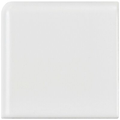 Retro 1.88 x 1.88 Porcelain Corner Piece Tile Trim in White