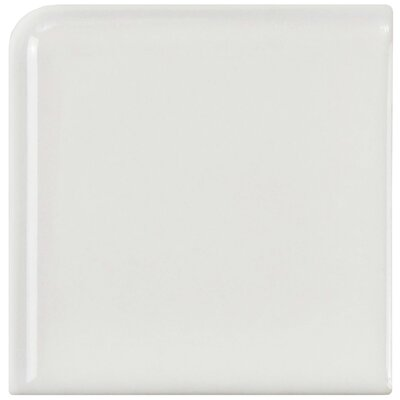 Retro 1.88 x 1.88 Porcelain Corner Piece Tile Trim in Gloss White