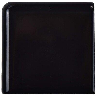 Retro 1.88 x 1.88 Porcelain Corner Piece Tile Trim in Black