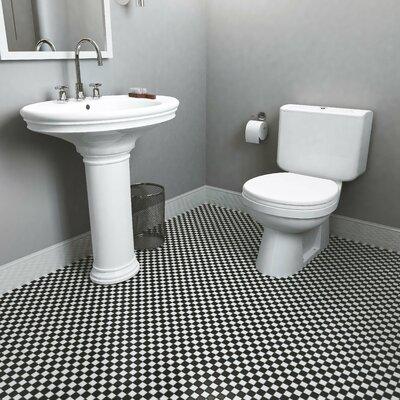Derecha 1.25 x 1.25 Porcelain Mosaic Tile in Black/White