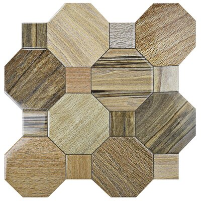 Meaco 17.75 x 17.75 Ceramic Wood Look Tile in Brown