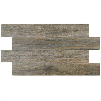 Moscow 12.25 x 23.63 Porcelain Wood Look/Field Tile in Brown