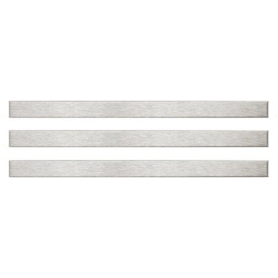 Aleazio 5.75 x 0.38 Porcelain Specialty Piece Tile Trim in Silver