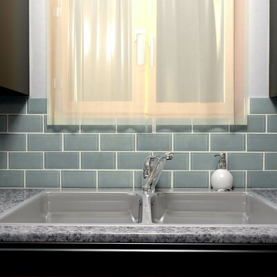 Sierra 3 x 6 Glass Subway Tile in Blue Smoke