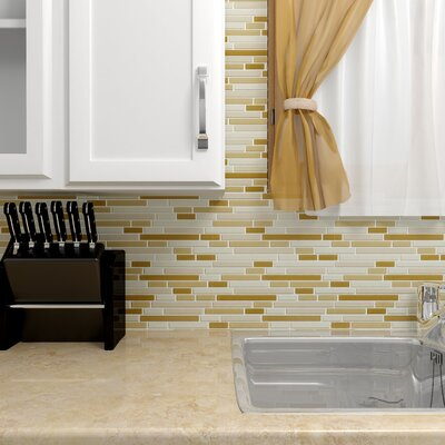 Ambit Random Sized Glass Mosaic Tile in Frosted Dakar
