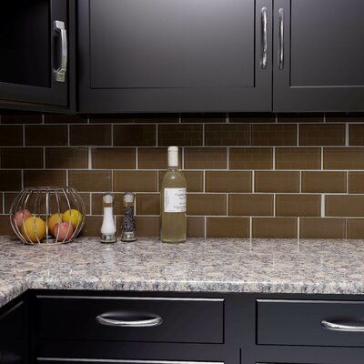 Sierra 3 x 6 Glass Subway Tile in Earth