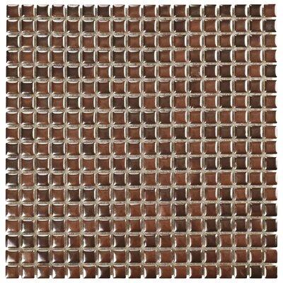 Arcadia 0.56 x 0.56 Porcelain Mosaic Tile in Tetsu Ore
