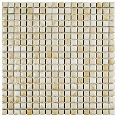 Arcadia 0.56 x 0.56 Porcelain Mosaic Tile in Perla Bone