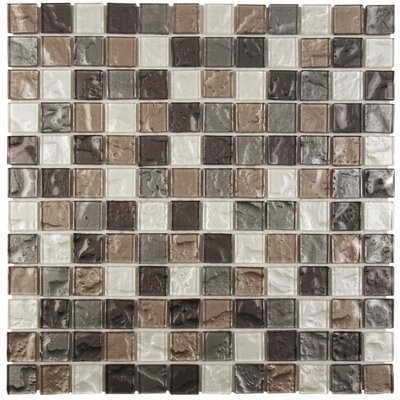 Stadius .875 x .875 Glass Mosaic Tile in Gray