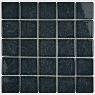 Utopia 2 x 2 Porcelain Mosaic Tile in Black