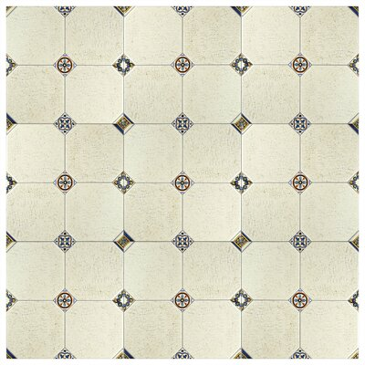 Turia 13.12 x 13.12 Ceramic Field Tile in Cream