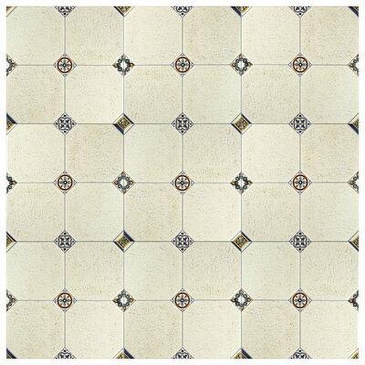 Turia 13.12 x 13.12 Ceramic Field Tile in Cream