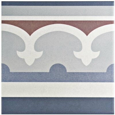 Grotta 7.88 x 7.88 Porcelain Field Tile in Blue/Red
