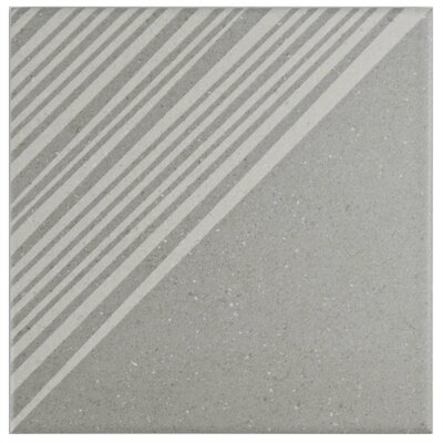 Heather 5.875 x 5.875 Porcelain Field Tile in Glazed Gray/White