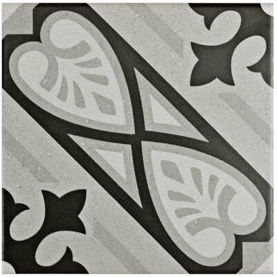 Heather 5.88 x 5.88 Porcelain Field Tile in Gray/Black