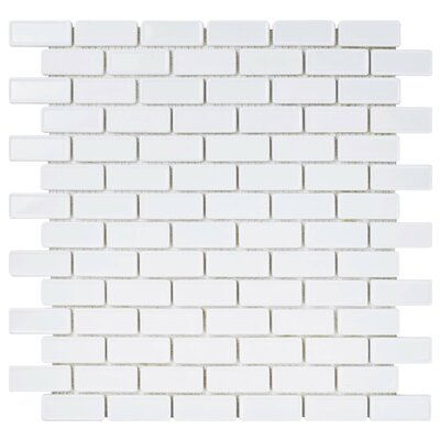 Esamo 11.75 x 12 Glass Mosaic Tile in White
